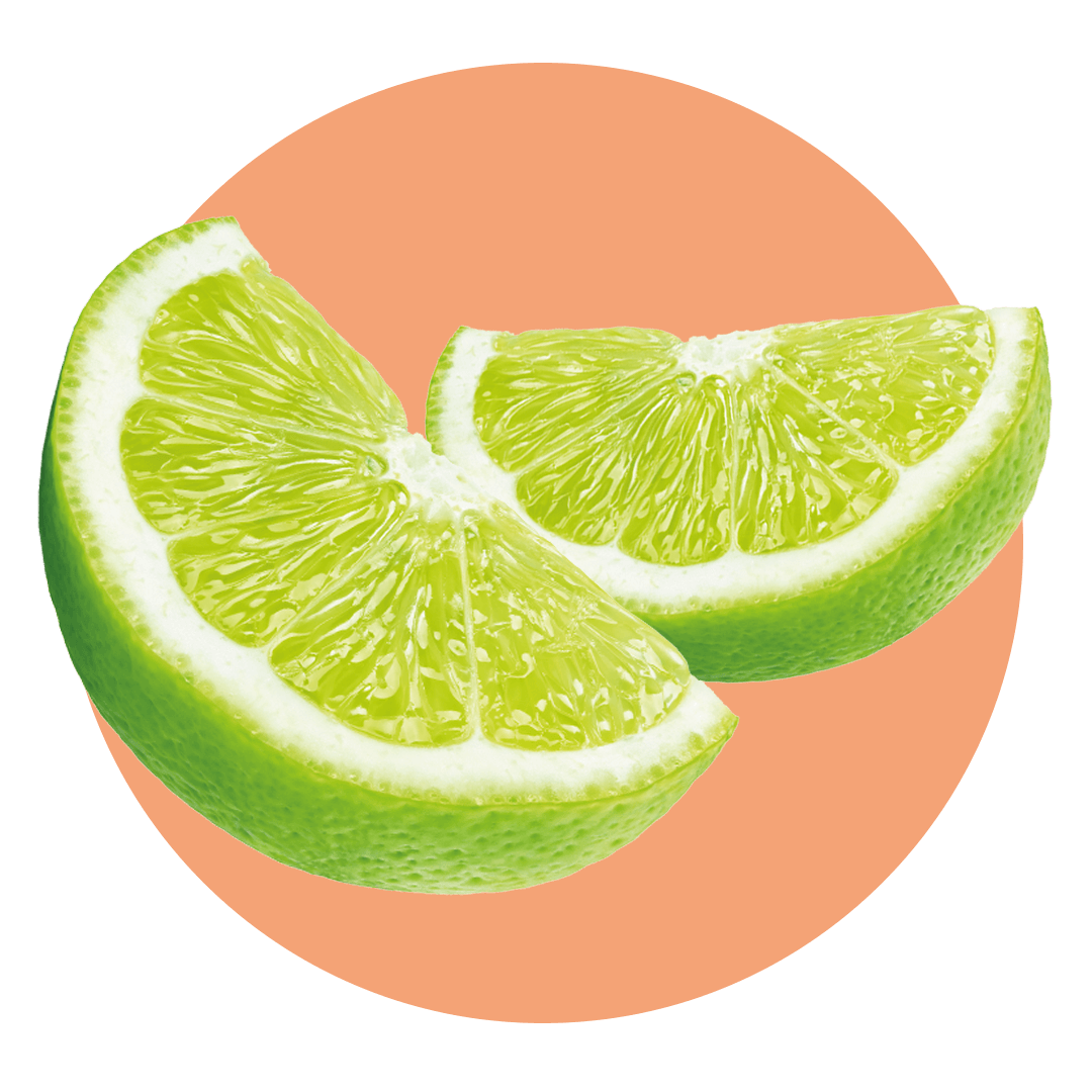 Slices of green limes