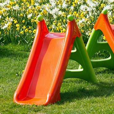 Orange children's slide