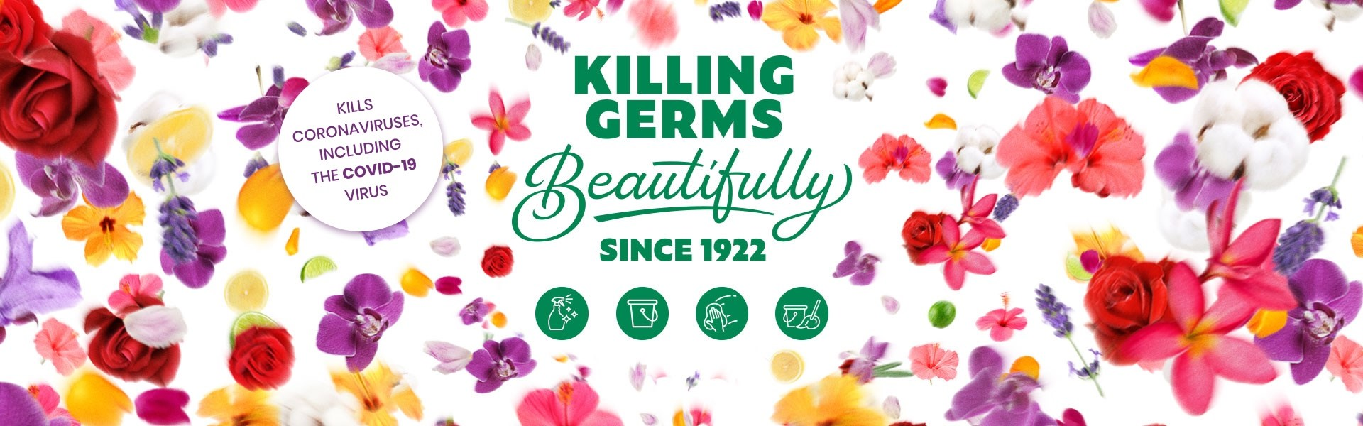 Killing Germs Beautifully since 1922 banner desktop