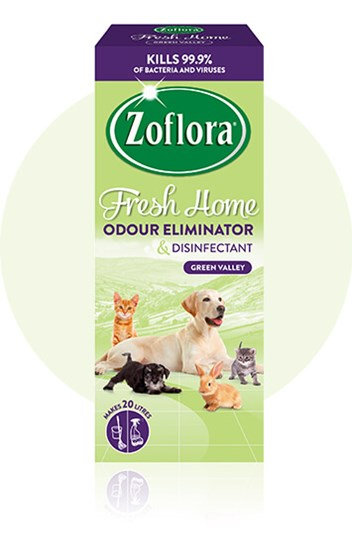 Zoflora Green Valley multipurpose disinfectant packaging