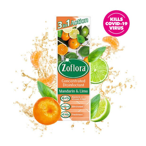Zoflora Manarin and Lime fragrant multipurpose concentrated disinfectant