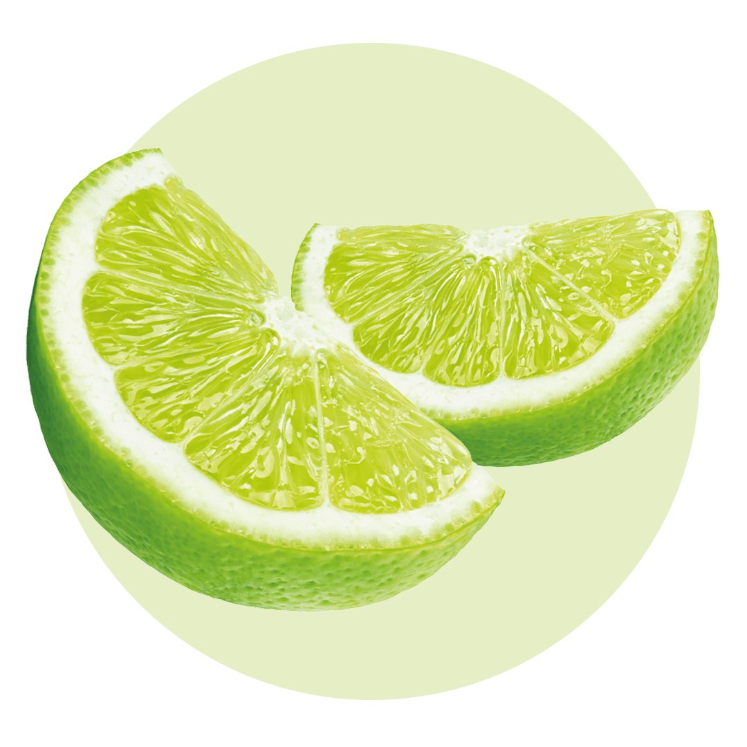 Two sliced limes