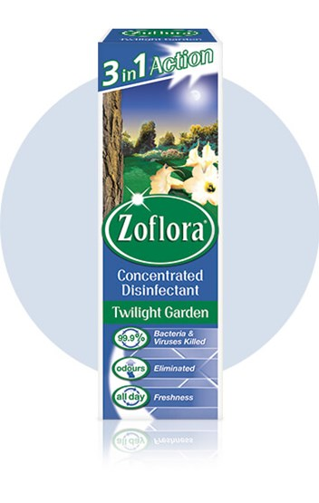 Zoflora Twilight Garden multipurpose disinfectant packaging