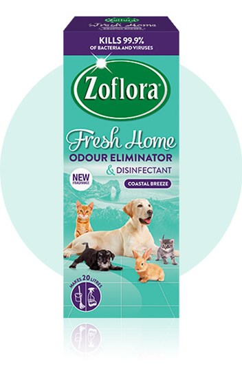 Zoflora Coastal Breeze multipurpose disinfectant packaging