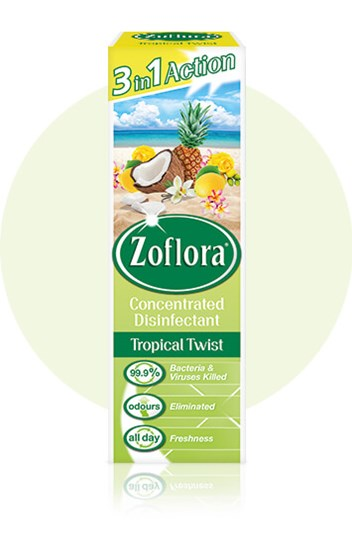 Zoflora Tropical Twist multipurpose disinfectant packaging