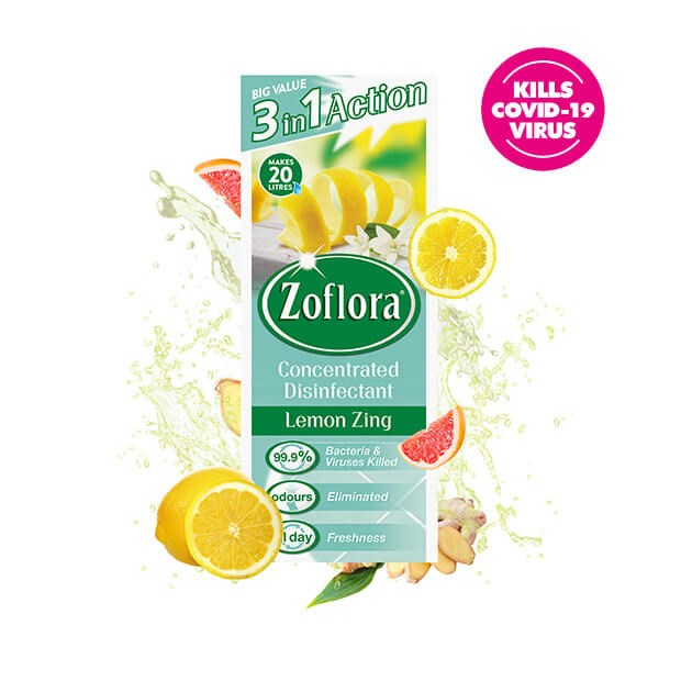 Zoflora Lemon Zing Fragrant Multipurpose Disinfectant